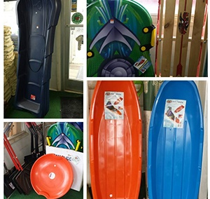 Collage of different sleds